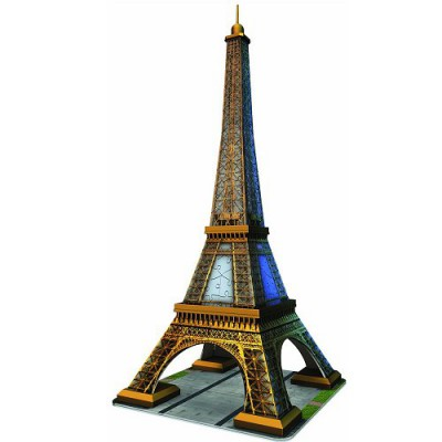 Ravensburger-12556 3D Puzzle - 216 Pieces - The Eiffel Tower, Paris