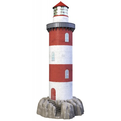 Ravensburger-12565 3D Puzzle - Lighthouse (New Edition)