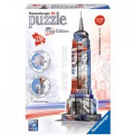 Ravensburger-12583 3D Jigsaw Puzzle - Empire State Building Flag Edition