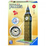 Ravensburger-12586 3D Jigsaw Puzzle - Big Ben with Clock