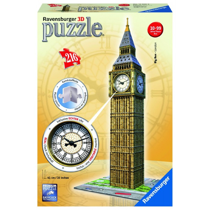 3D Jigsaw Puzzle - Big Ben with Clock
