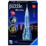 Ravensburger-12595 3D Jigsaw Puzzle with Led - Chrysler Building