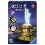 Ravensburger-12596 3D Jigsaw Puzzle - Statue of Liberty by Night