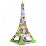 Ravensburger-12598 3D Jigsaw Puzzle - Eiffel Tower Pop Art