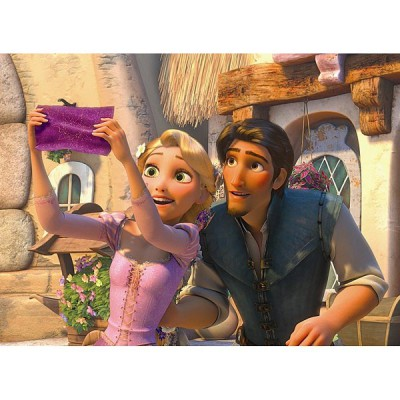 Ravensburger-12614 Jigsaw Puzzle - 200 Pieces - XXL - Disney Princess : Rapunzel at the Light Show