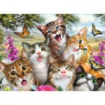 Puzzle  Ravensburger-12620 XXL Pieces - Friendly Felines