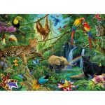 Puzzle  Ravensburger-12660 Animals of the Jungle