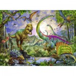 Puzzle  Ravensburger-12718 Kingdom of the dinosaurs