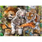 Puzzle  Ravensburger-12721 XXL Pieces - Big Cat Nap
