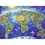 Puzzle  Ravensburger-12722 XXL Pieces - Big, wide world