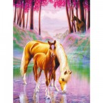 Ravensburger-12726 Jigsaw Puzzle - 200 Pieces - XXL : Horses in the Mist