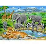 Ravensburger-12736 Jigsaw Puzzle - 200 Pieces - Maxi - African Animals