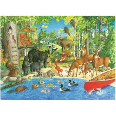 Puzzle Ravensburger-12740 XXL Pieces - Woodland Friends