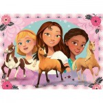Puzzle  Ravensburger-12772 XXL Pieces - Dreamworks - Spirit Riding Free