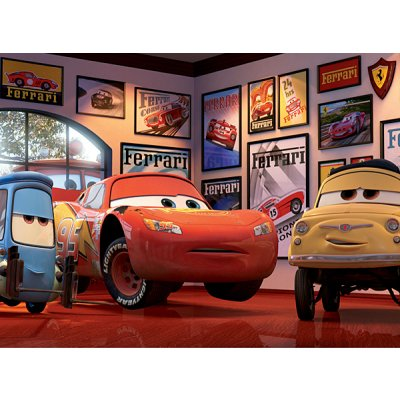 Ravensburger-12781 Jigsaw Puzzle - 200 Pieces - Maxi - Disney Cars : Flash Mc Queen and his Friends