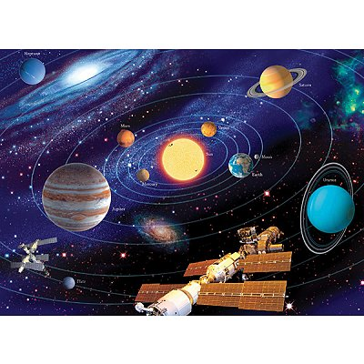 Ravensburger-12796 Jigsaw Puzzle - 200 Pieces - Maxi - The Solar System