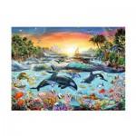 Ravensburger-12804 XXL Jigsaw Puzzle - Orca Paradise