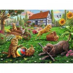 Puzzle  Ravensburger-12828 XXL Pieces - Explorers with 4 Paws