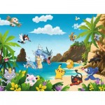 Puzzle  Ravensburger-12840 XXL Pieces - Pokemon