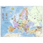 Puzzle  Ravensburger-12841 XXL Pieces - Map of Europe in French