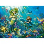 Puzzle  Ravensburger-12872 XXL Pieces with Glitter - Disney Princess