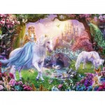 Puzzle  Ravensburger-12887 XXL Pieces - Magic Unicorns