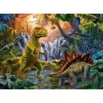 Puzzle  Ravensburger-12888 XXL Pieces - The Dinosaur Oasis