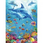 Puzzle  Ravensburger-12889 XXL Pieces - Pod of Dolphins