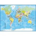 Puzzle  Ravensburger-12890 XXL Pieces - Child World Map