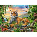 Puzzle  Ravensburger-12896 XXL Pieces - King of the Jungle