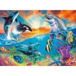 Puzzle  Ravensburger-12900 XXL Pieces - Ocean Dwellers