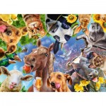 Puzzle  Ravensburger-12902 XXL Pieces - Funny Farm Animals