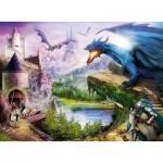 Puzzle  Ravensburger-12911 XXL Pieces - Castle and Dragon