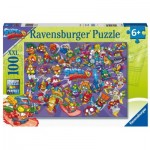 Puzzle  Ravensburger-12914 XXL Pieces - Super Zings