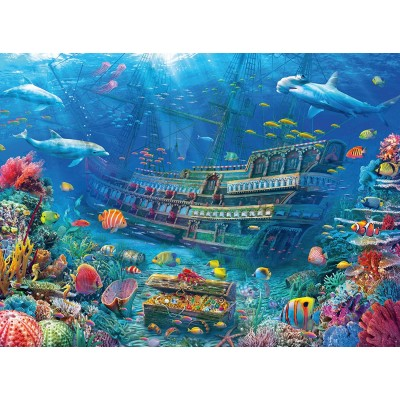 Puzzle Ravensburger-12944 XXL Pieces - Ship Wreck