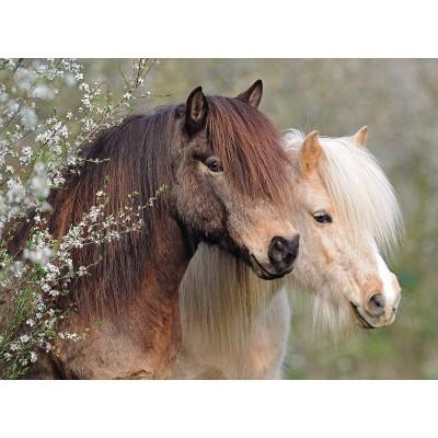 Puzzle Ravensburger-12986 XXL Pieces - Horses