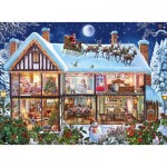 Puzzle  Ravensburger-12996 XXL Pieces - Christmas at Home