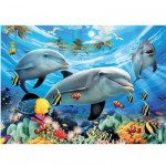 Ravensburger-13052 Jigsaw Puzzle - 300 Pieces - Dolphins' Ball