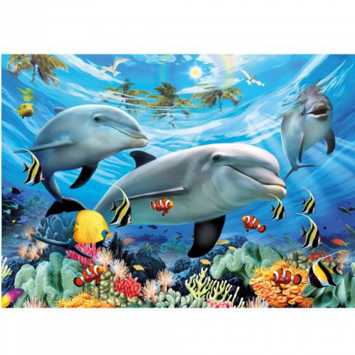 Jigsaw Puzzle - 300 Pieces - Dolphins' Ball