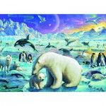 Ravensburger-13203 XXL Jigsaw Puzzle - Meet the Polar Animals