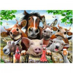 Puzzle  Ravensburger-13207 XXL Pieces - Farmyard Selfies!