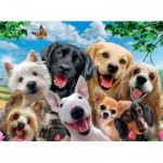 Puzzle  Ravensburger-13228 XXL Pieces - Delighted Dogs
