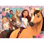 Puzzle  Ravensburger-13252 XXL Pieces - DreamWorks - Spirit Riding Free