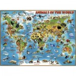 Puzzle  Ravensburger-13257 XXL Pieces - Animals around the World