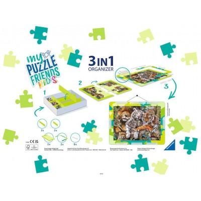Puzzle Ravensburger-13265 3 in 1 Organizer - 100 - 300 XXL Pieces - Green