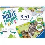 Ravensburger-13265 3 in 1 Organizer - 100 - 300 XXL Pieces - Green
