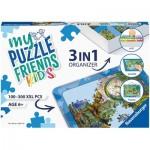 Ravensburger-13274 3 in 1 Organizer - 100 - 300 XXL Pieces - Blue