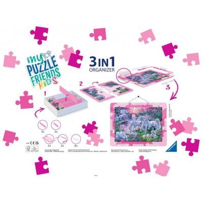 Puzzle Ravensburger-13275 3 in 1 Organizer - 100 - 300 XXL Pieces - Pink