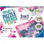 Ravensburger-13275 3 in 1 Organizer - 100 - 300 XXL Pieces - Pink