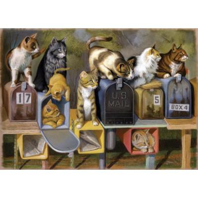Puzzle Ravensburger-13562 XXL Pieces - Cat's Got Mail